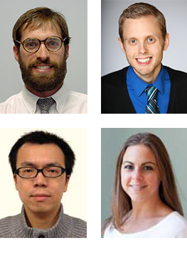 Clockwise from top left: Andy Hoofnagle, Steven Braun, Lindsay Pino, Tsung-Heng Tsai
